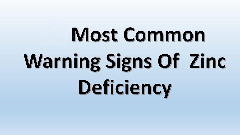 6 Important Signs of Zinc Deficiency
